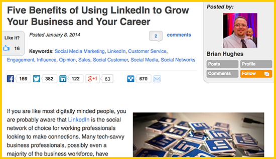 Five Benefits of Using LinkedIn to Grow Your Business and Your Career