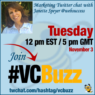Facebook Advertising Twitter Chat with Janette Speyer @websuccess #VCBuzz