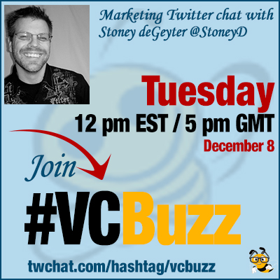 Content Brainstorming Twitter Chat with Stoney deGeyter @StoneyD #VCBuzz