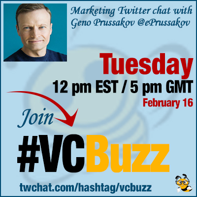 Affiliate Marketing Twitter Chat with Geno Prussakov @ePrussakov #VCBuzz
