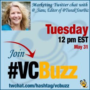 Multi-Author Blog Management Twitter Chat with @_Sians, Editor of @TweakYourBiz #VCBuzz