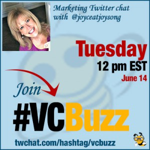 Home Business Productivity Twitter Chat with Joyce Anderson @joyceatjoysong #VCBuzz