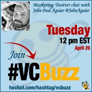 Make Money Blogging Twitter Chat with John Paul Aguiar @JohnAguiar #VCBuzz