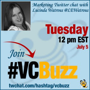 Visual Marketing Twitter Chat with Lucinda Watrous @LEWatrous #VCBuzz
