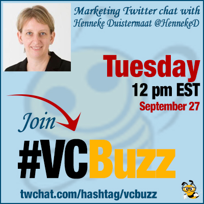 The Art of Business Blogging with Henneke Duistermaat @HennekeD #VCBuzz