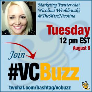 Visual Content Marketing Tips with Nicolina Wroblewski @TheMissNicolina #VCBuzz