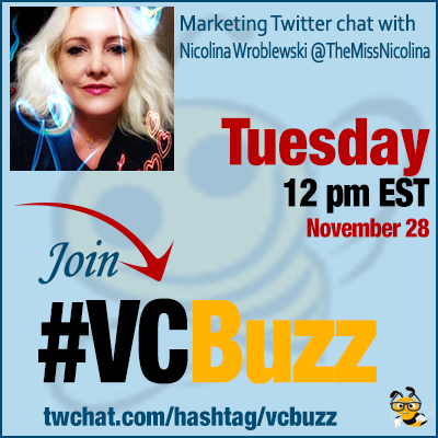 Visual Content Marketing Tips with Nicolina Wroblewski @TheMissNicolina #VCBuzz