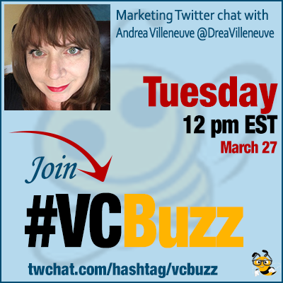 How to Build Your Personal Brand with Twitter Chats w/ Andrea Villeneuve @DreaVilleneuve #VCBuzz
